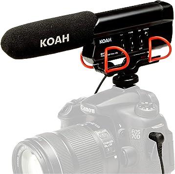 Koah Shotgun micrófono de vídeo – Profesional en cámara micrófono ...