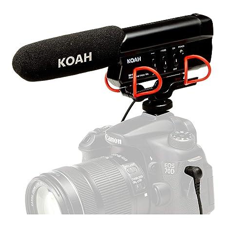 Koah Shotgun micrófono de vídeo: Amazon.es: Electrónica