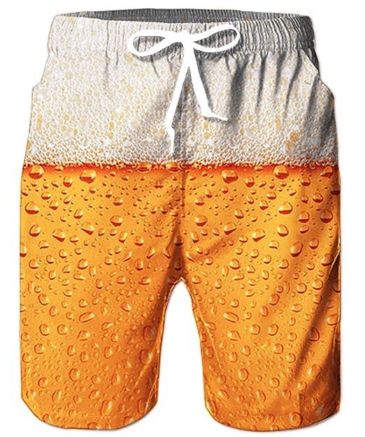 TUONROAD Bañadores para Hombre Impresión 3D Piña Flamenco Gato Traje de Baño Multi Colorido Bañador de Natación Pantalones Cortos Secado Rápido Swim ...