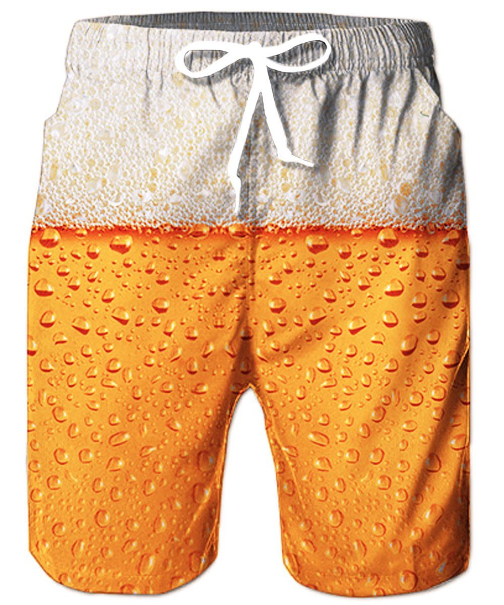 4376cfb745 Galleon - TUONROAD Mens Quick Dry 3D Printed Beach Shorts Casual Style  Surfing Board Shorts Toddler Swim Trunks With Pocket,Small,Beer