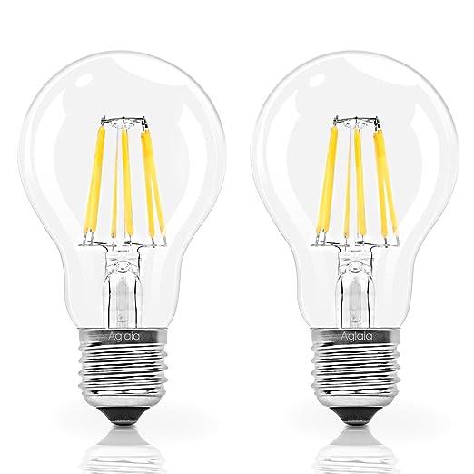 97 opinioni per Aglaia Lampadine LED a Filamento, Attacco E27, 6W Equivalente a 60W, 600LM 2700K