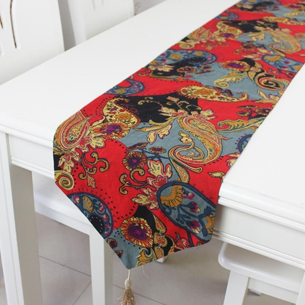 kaige table runners Cotton linen table flag hotel bed flag table TV cabinet Decoration table flag