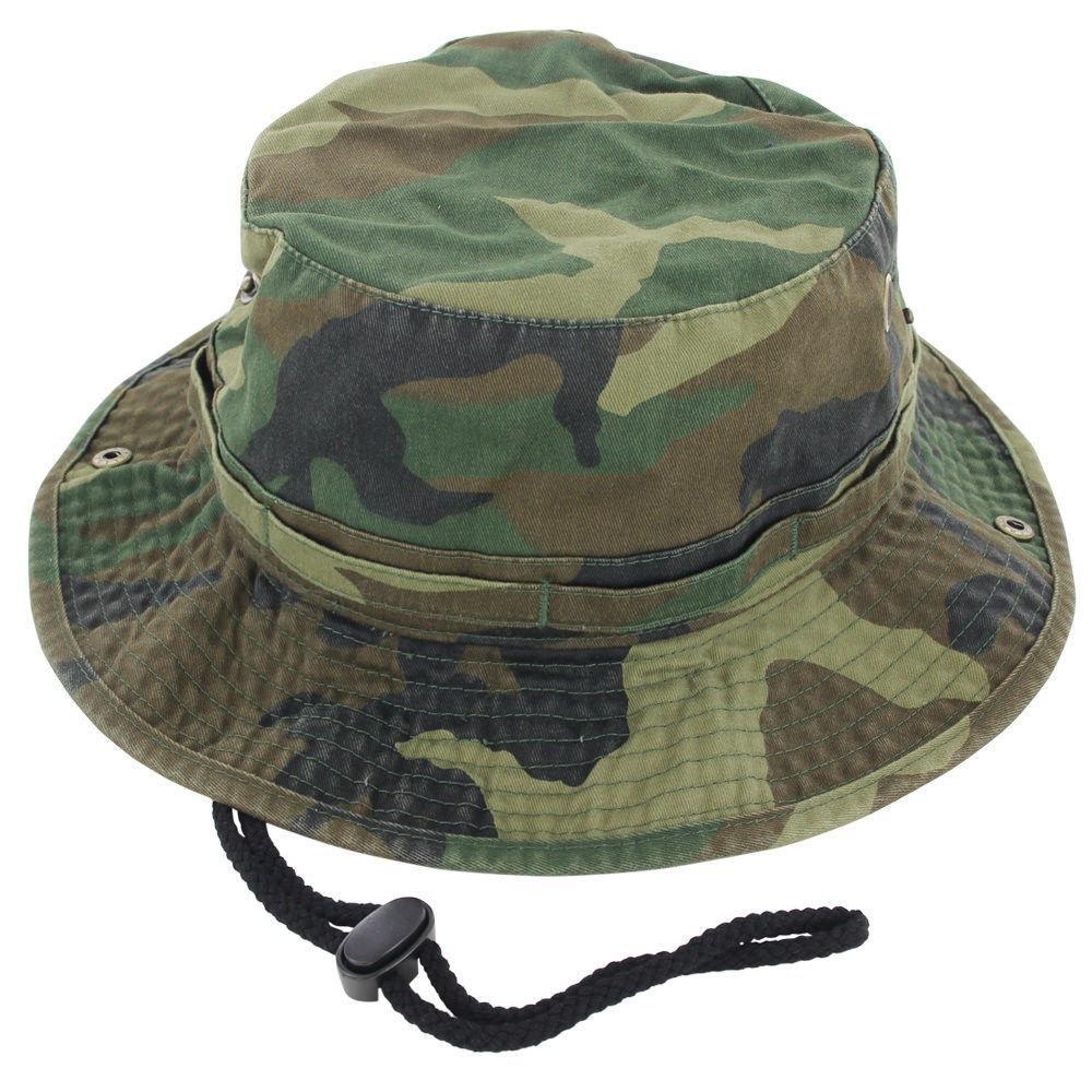 W.Camo_(US Seller)Cotton Hat Boonie Bucket Cap Summer Men Women