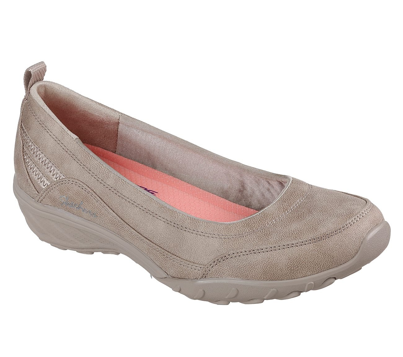 Skechers Relaxed Fit Savvy Nobodys Fool Damen Sommerschuhe Slip on Slipper TPE Ballerinas  35 EU|Taupe