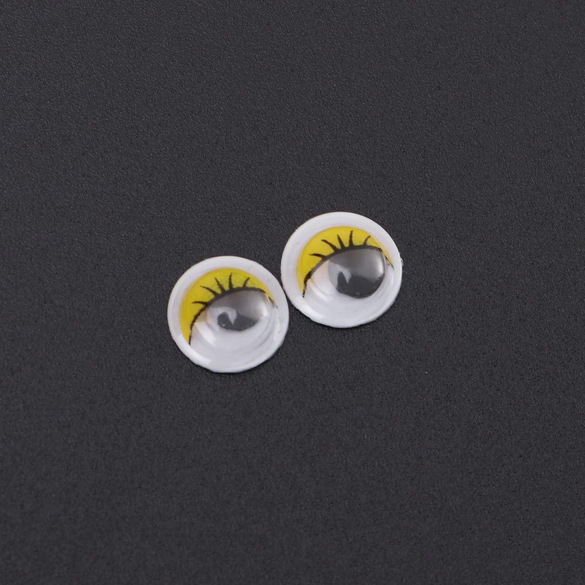 STOBOK 100Pcs Wackelaugen Kulleraugen Klebeaugen Selbstklebende Googly Augen DIY Scrapbooking Kunsthandwerk Augen 12mm Gelb