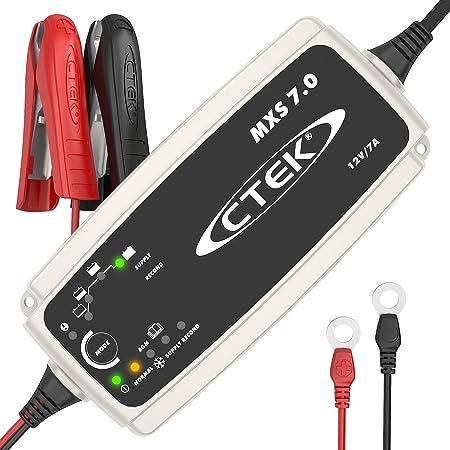 CTEK MXS 7.0 - Vollautomatisches Batterieladegerät (Grundladung, Erneuerung, Erhaltungsladung von Auto-, Caravan und Wohnmobi