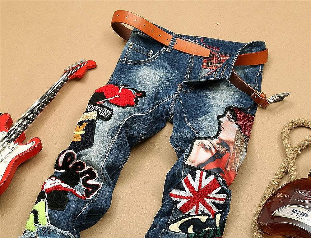 CHENSF Mens Stretch Slim Fashion Jeans