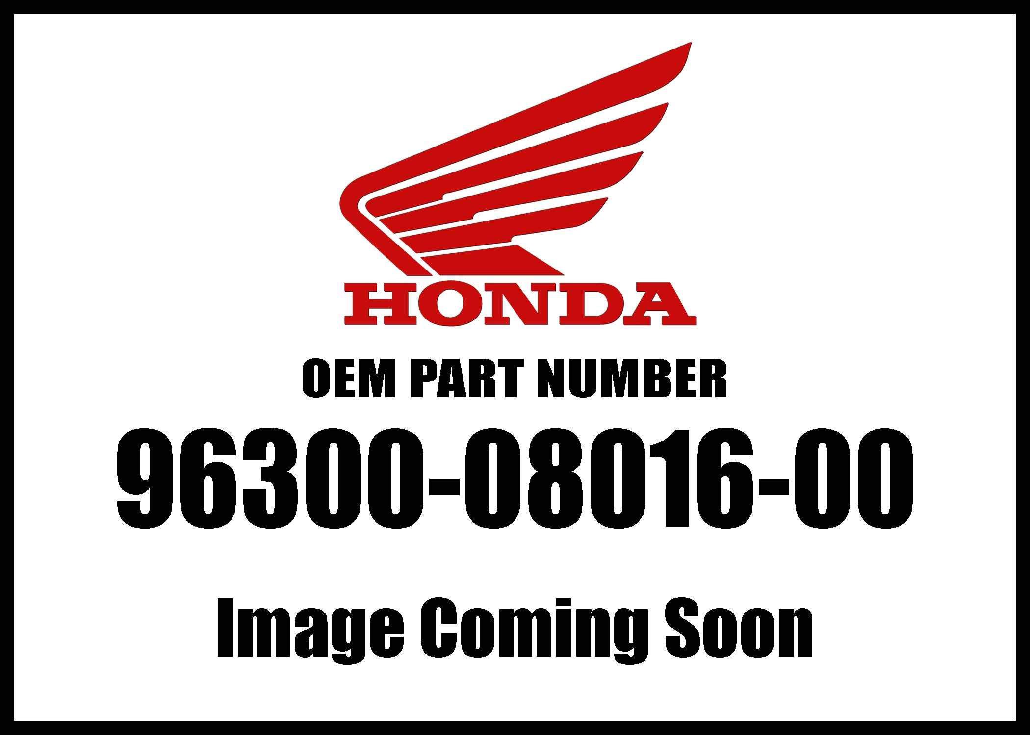 Honda 96300-08016-00 Bolt Genuine Original Equipment Manufacturer (OEM) Part by Honda (Image #1)