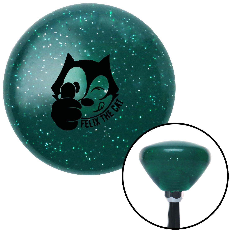 Black Felix The Cat Thumbs Up American Shifter 208076 Green Retro Metal Flake Shift Knob with M16 x 1.5 Insert