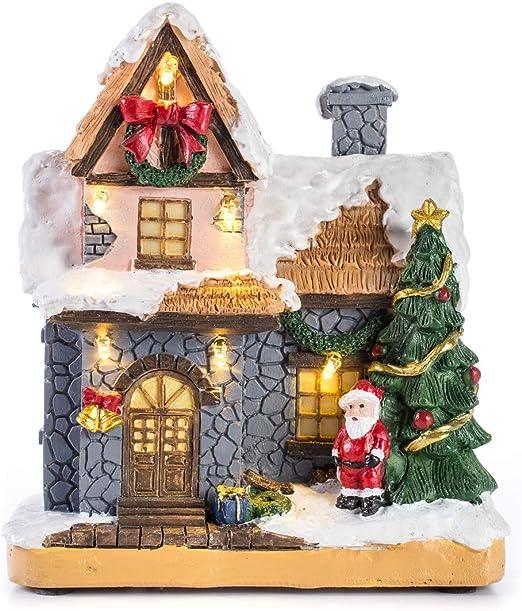 Christmas Light Up Village Scene LED Traditional Xmas Ornament