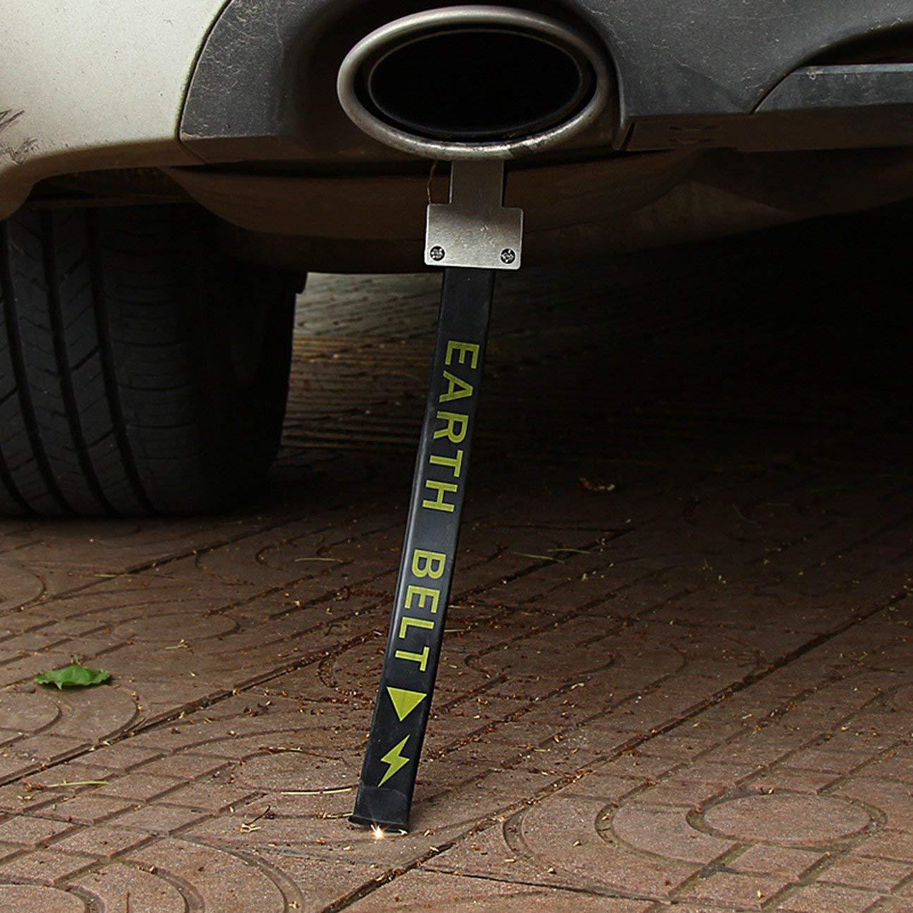 Colore: Nero MachinYesity Cinghia antistatica per Auto Cintura di Terra elettrostatica Cancro Riflettente Evitare la Cinghia antistatica del Filo di Terra per Camion per Auto