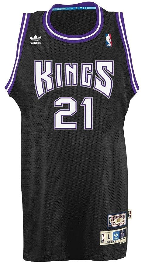 Vlade Divac Sacramento Kings Adidas NBA Throwback Swingman Jersey - Black ac01b2e54