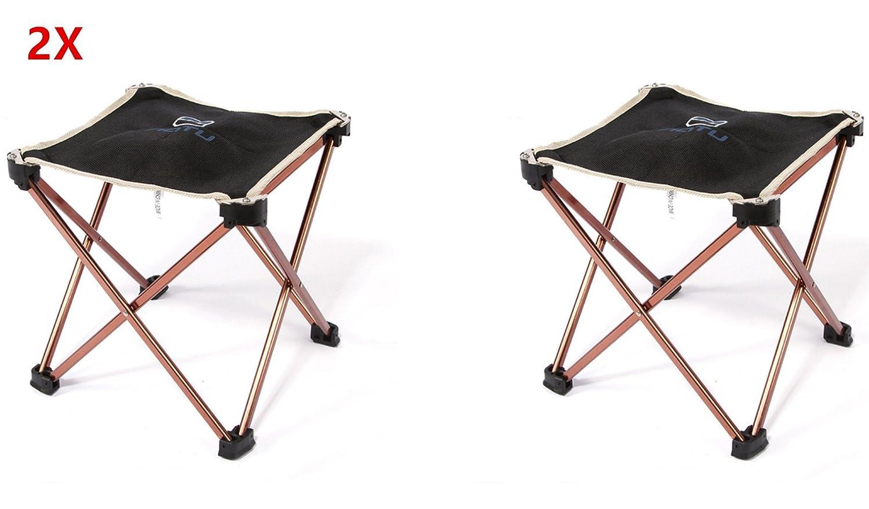Amazon.com: Juego de 2 sillas plegables de aleación de ...
