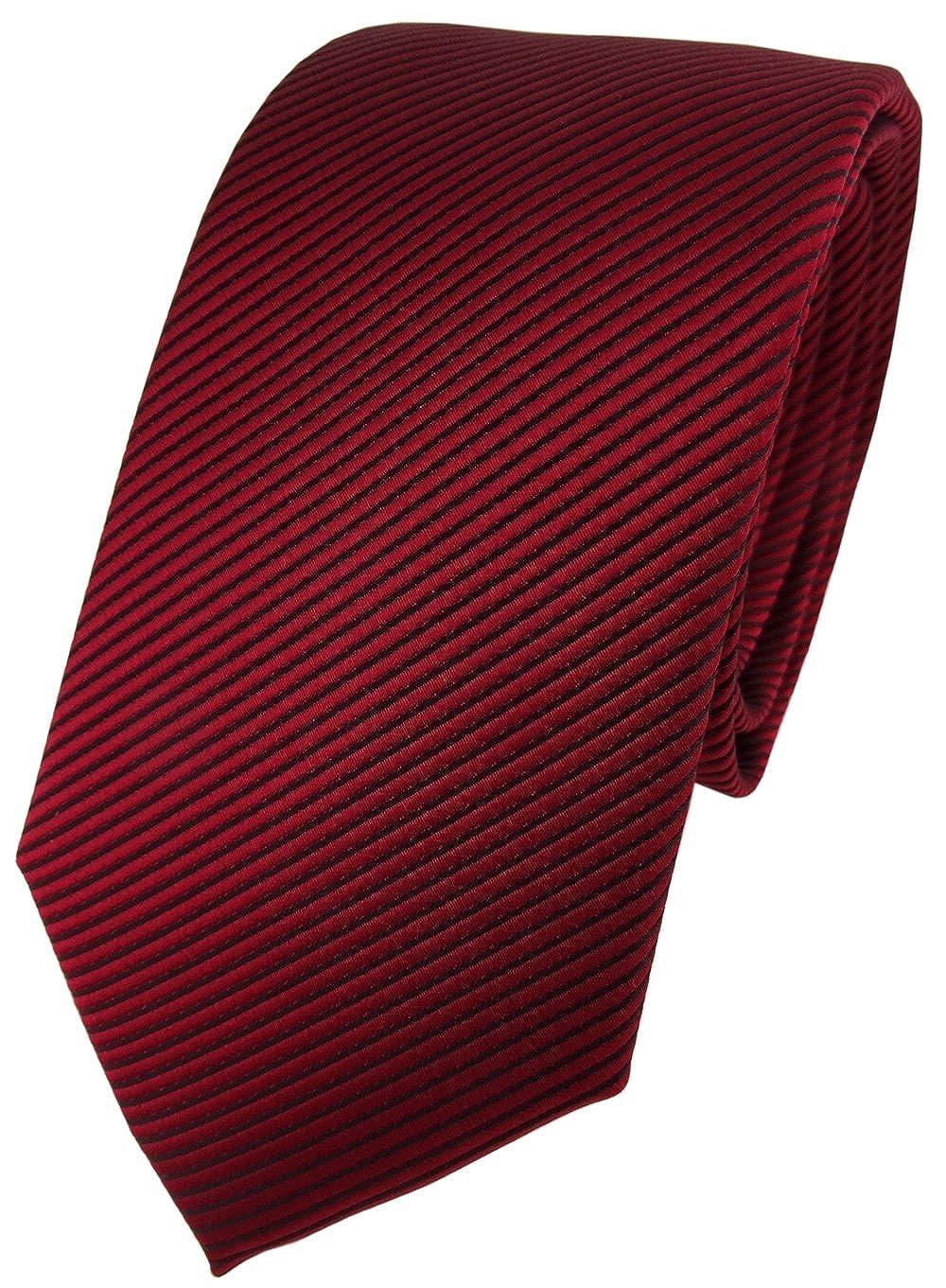 TigerTie Modische Designer Krawatte in fein gestreift Krawatte 7 cm Breite