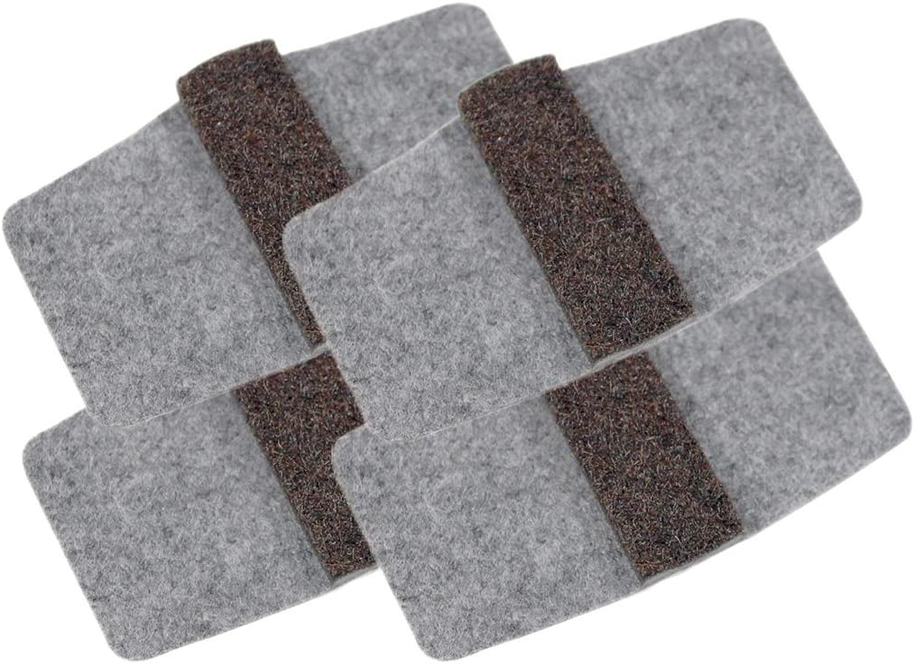 Master Manufacturing Wrap-Around Felt Floor Savers, Fits Most Chair Rails, Protects Floors for Scratches and Rust Stains (88458) (16 Pack)