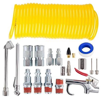 CarBole kit de accesorios de compresor de aire, kit de herramientas de aire de 1