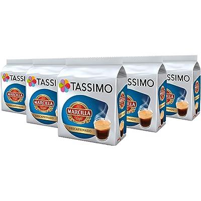 TASSIMO Marcilla Café Descafeinado - 5 paquetes de 16 cápsulas: Total 80 unidades
