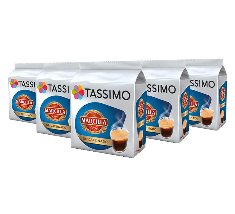 TASSIMO Marcilla Café Descafeinado - 5 paquetes de 16 cápsulas ...