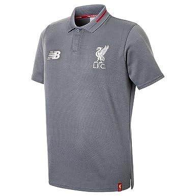 acb9462b1 Liverpool FC 18/19 Kids Elite Leisure Football Polo Shirt - Grey - Size SB