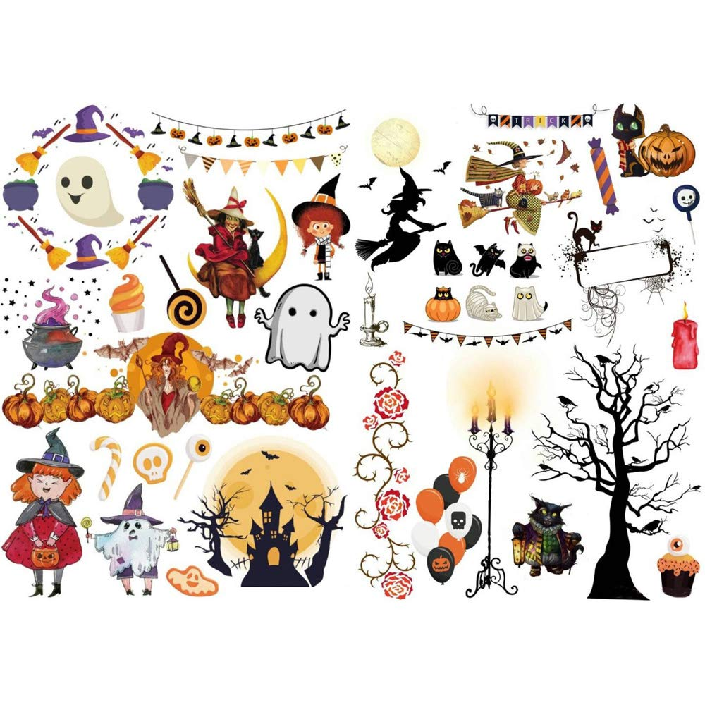 Amazon.com: Seasonstorm Happy Halloween Ghost – Pegatinas de ...
