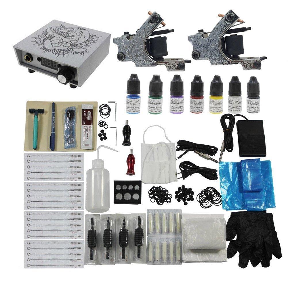 Amazon.com: Redscorpion Tattoo Starter Kit Set 2pcs Tattoo Machine ...