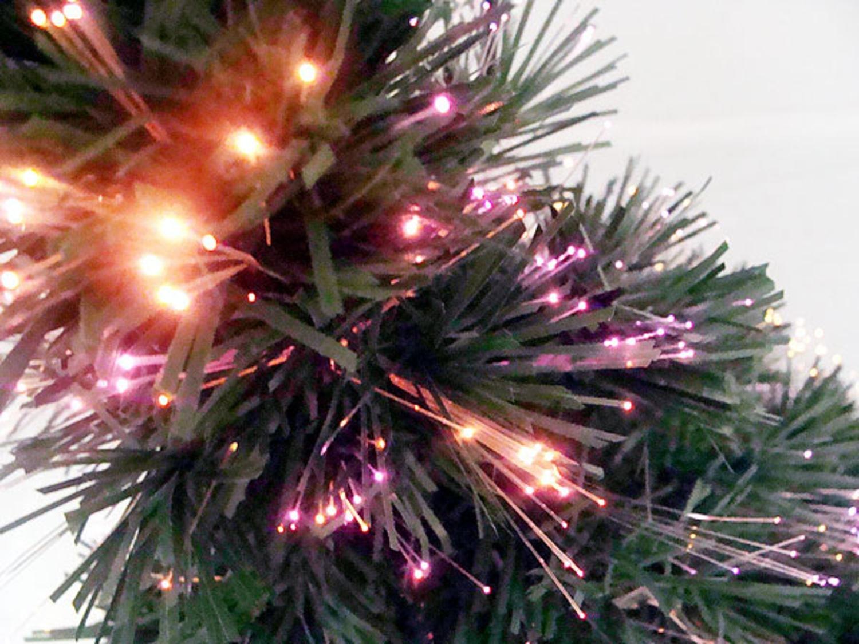 4ft 120cm black pre lit multi colour fibre optic christmas tree with - Amazon Com 6 Pre Lit Color Changing Fiber Optic Artificial Christmas Tree Multi Lights Home Kitchen