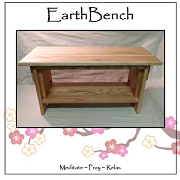 Meditation Bench ~ 14u0026quot; Tall Personal Altar Table By EarthBench: RED  OAK (28u0026quot