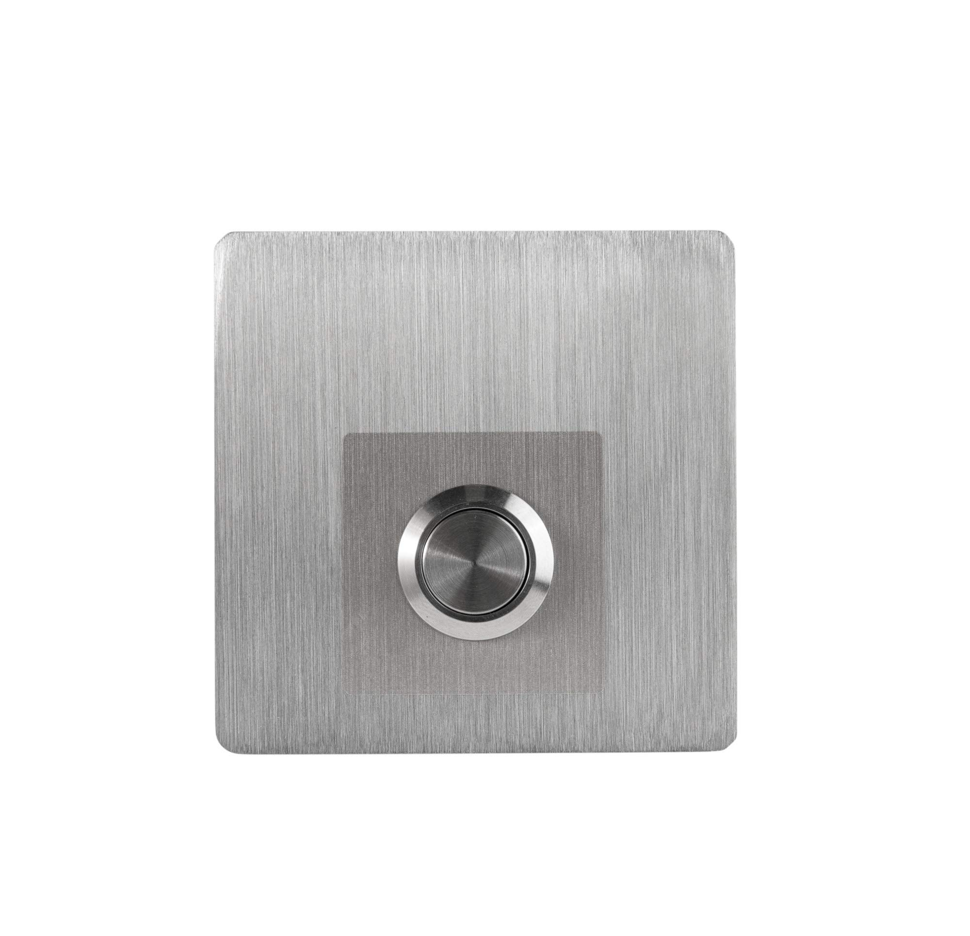 Modern Stainless Hardware Model S4 Stainless Steel Doorbell Button in grade 304 Stainless Steel 4mm thick