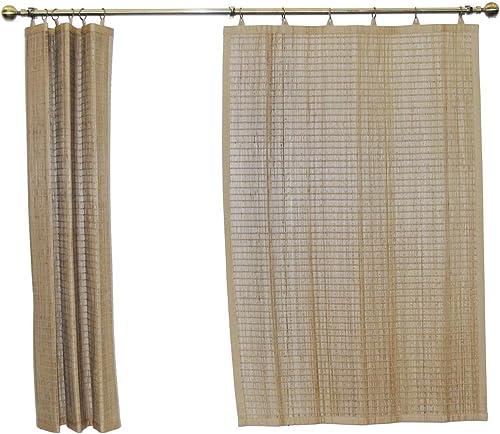 Bamboo Ring Top Curtain Window Panel