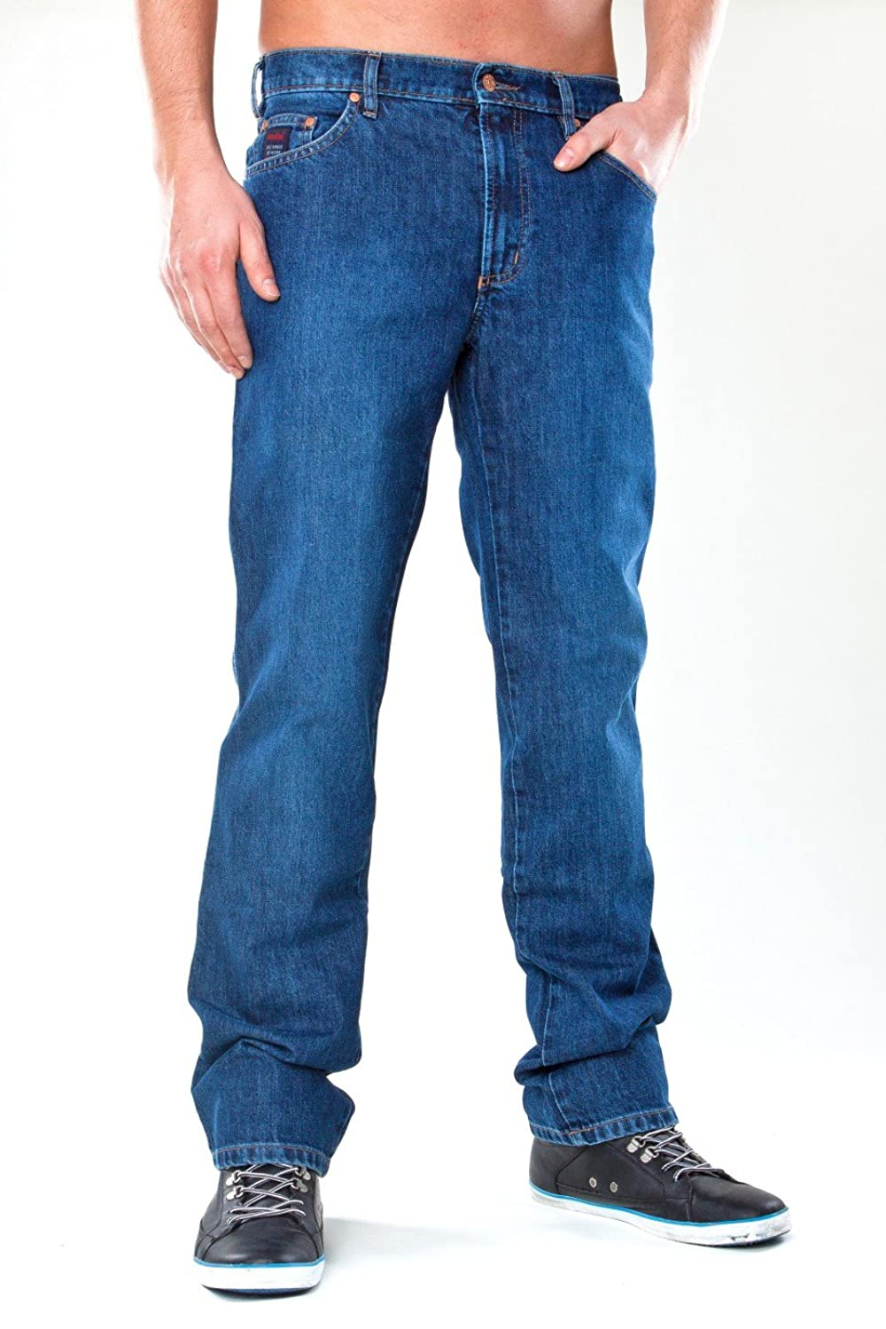 Revils 302 - Five Pocket Classic Stretch, Blue, Men, Jeans & Pants, Size W42/L30