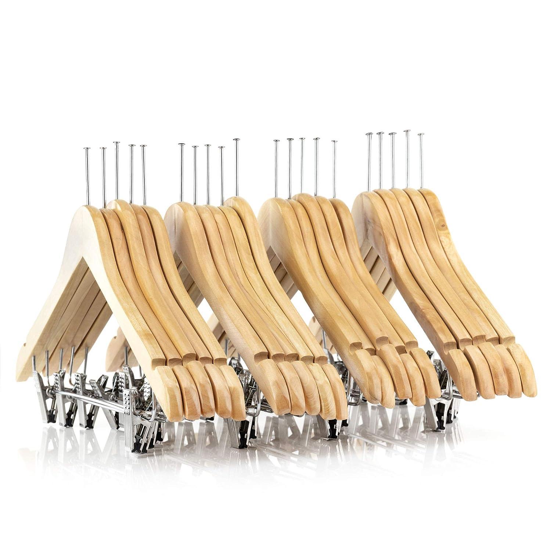 45cm Hangerworld Lot de 20 Cintres Antivols en Bois /à Pinces