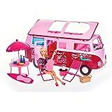 Simba Camper Steffi con Accessori, Colore Rosa, 105739423