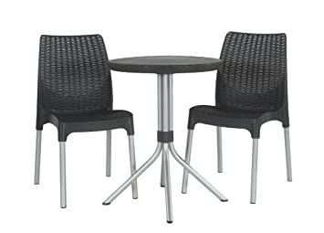 Amazon Com Keter Chelsea 3 Piece Resin Outdoor Patio Furniture