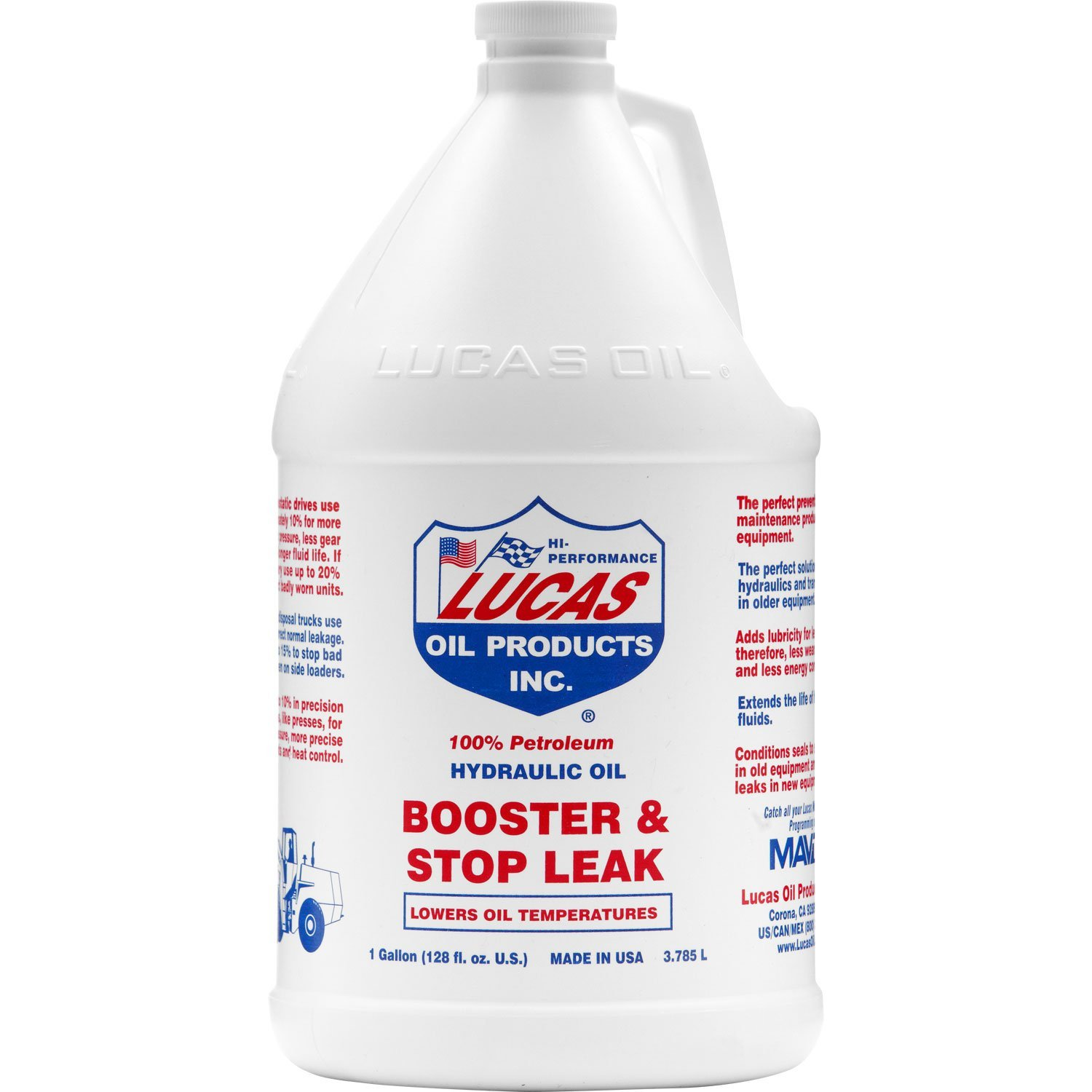 Lucas 10018 Hydraulic Oil Booster with Stop Leak Gallon (3) Lucas Oil