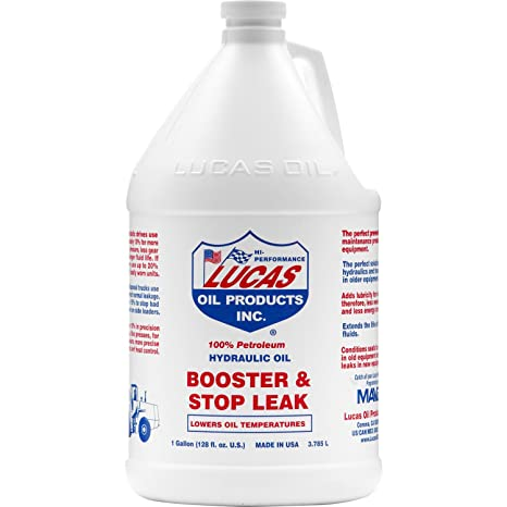LUCAS 10018 Brown 1 Gallon (128 Ounces) Hydraulic Oil and Stop Leak