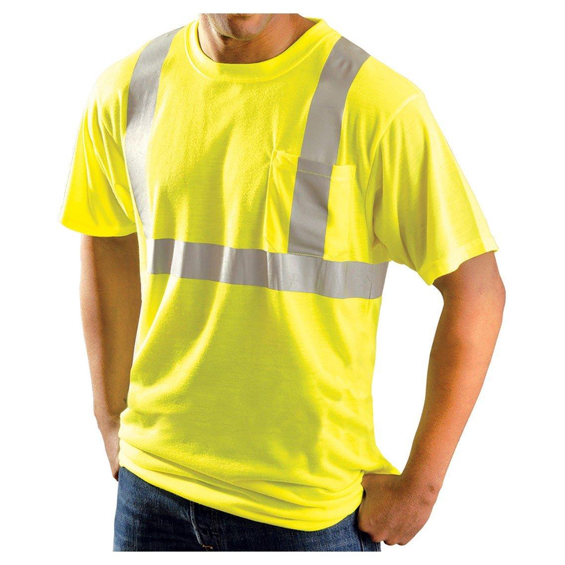 Rugged Blue クラス2 高い視認性 発散性 Tシャツ B01IPW53RY Small|蛍光イエロー (High-Vis Yellow) 蛍光イエロー (High-Vis Yellow) Small