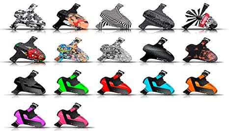 Riesel Design 1 Schutzblech Schlamm:PE 4 Kabelbinder+2 Sticker-Fahrradschutzblech für vorn-Spritzschutz-Einheitsgröße-Mountai