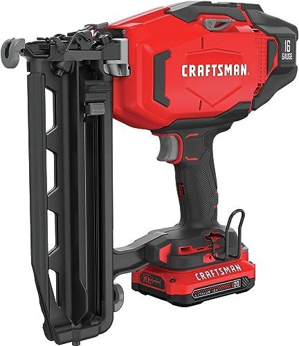 CRAFTSMAN V20 Cordless Finish Nailer Kit, 16GA CMCN616C1