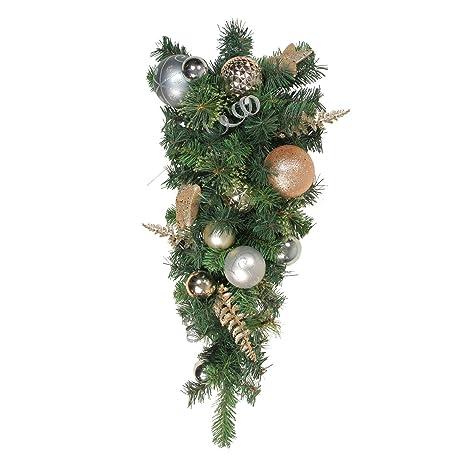 Amazon Com Christmas Teardrop Swag Decoration Elegant Gold