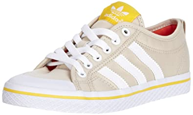 new style f9cea a3a6f ... White many styles 0aa90 6acb8 adidas Womens Honey Stripes Lo Trainer  D65802 BeigeWhite Canvas UK 6, ...