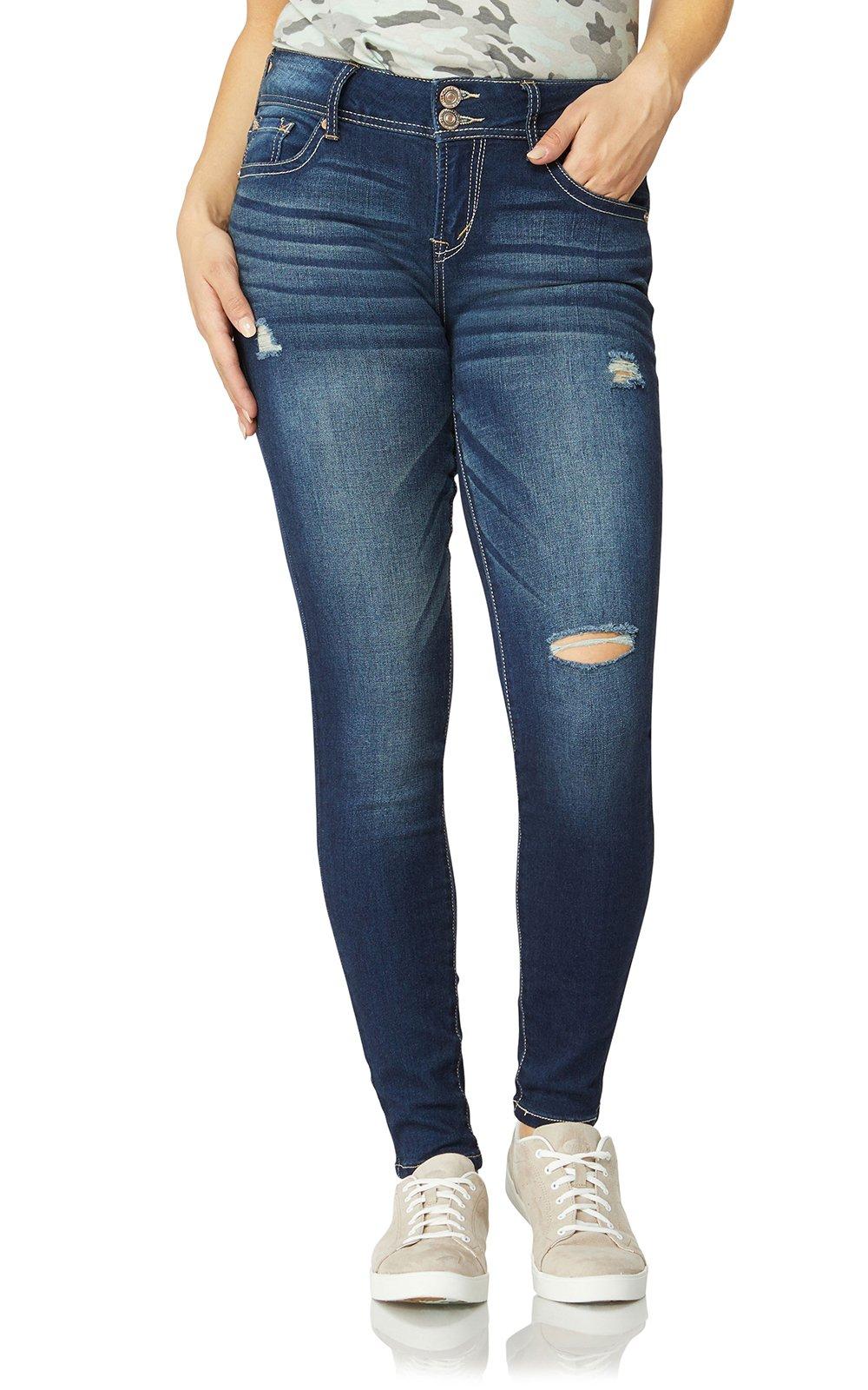 WallFlower Junior's InstaSoft Ultra Fit Skinny Jeans, Sapphire, 9 Long by WallFlower