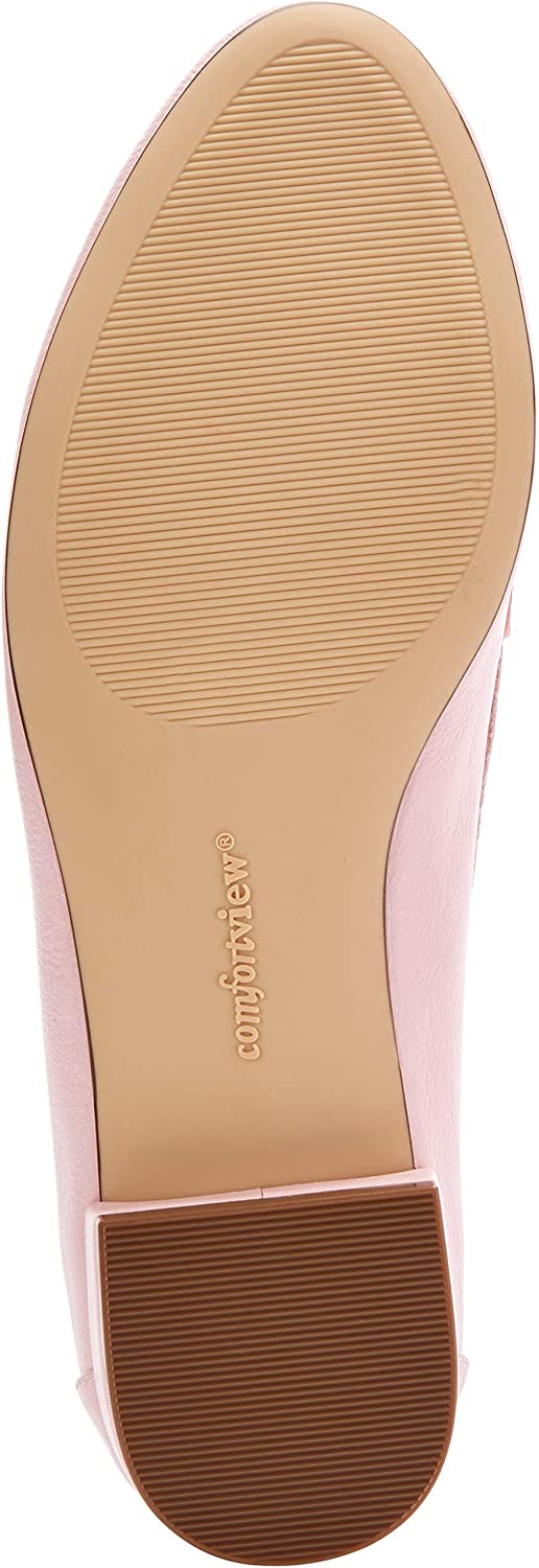 Comfortview Womens Wide Width The Nellie Flat