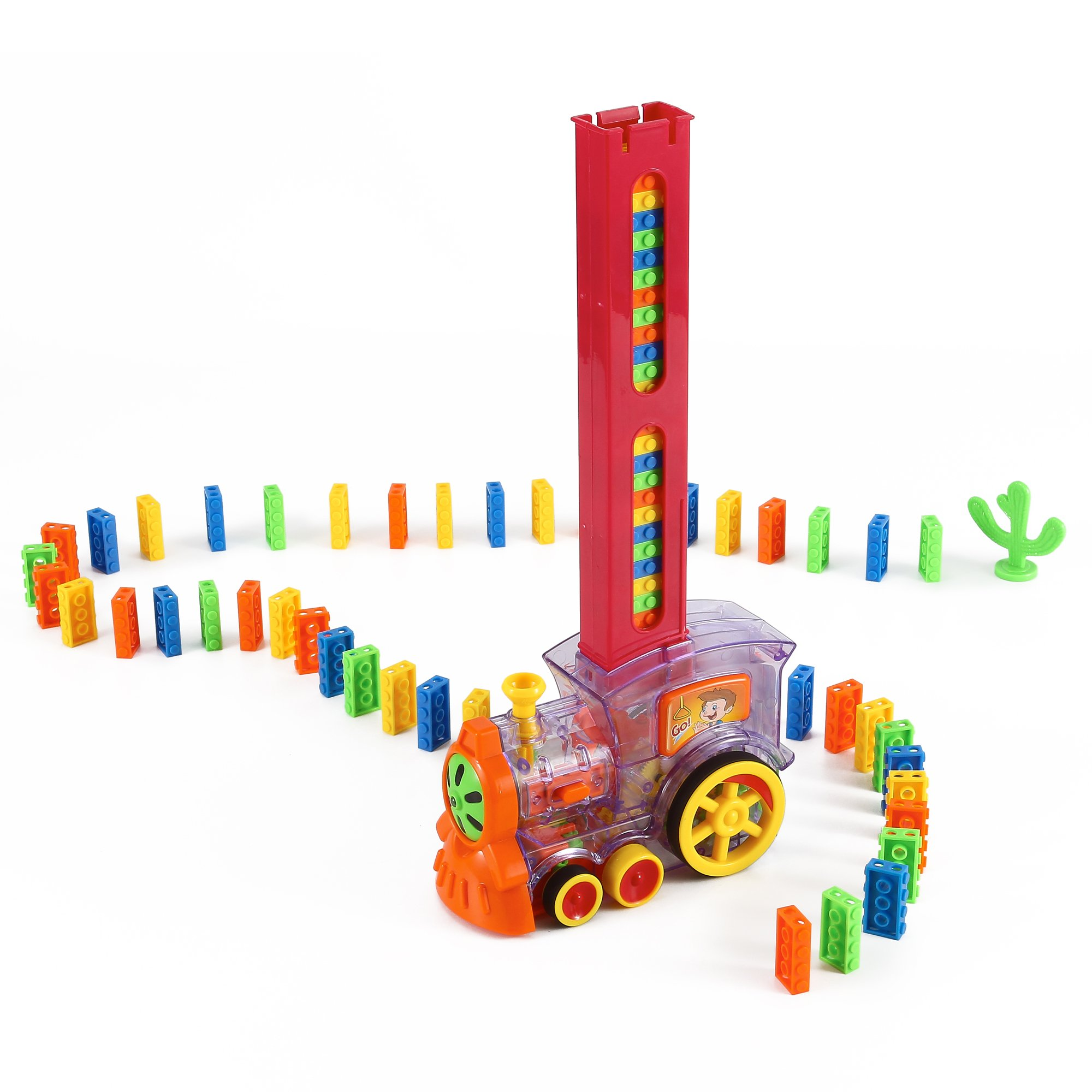 B/O Domino Train Toy Set with Lights and Sound