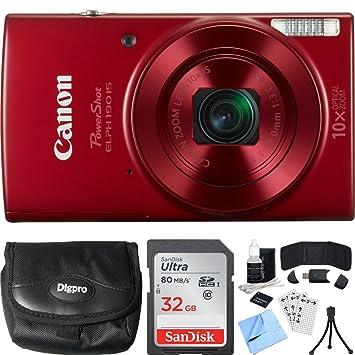 Amazon.com: Canon PowerShot ELPH 190 IS - Juego de tarjetas ...