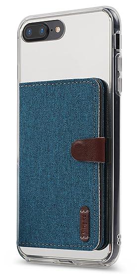 amazon com ringke flip card holder id adhesive 3m blue green