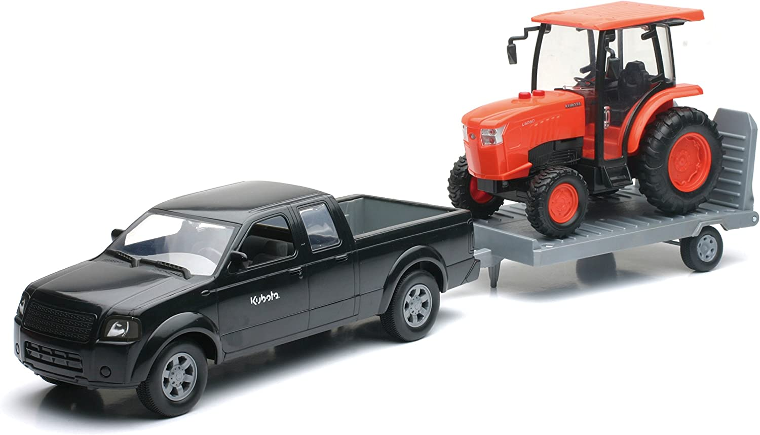 Newray Truck and Trailer With Kubota L6060 Farm Tractor 1//18 Scale Collectible Model Vehicle Set New Ray SG/_B00WKZUZVW/_US