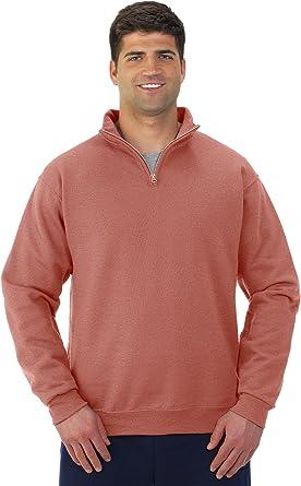 Jerzees mens 8 oz 995M -CHARCOAL GREY-L 50//50 NuBlend Quarter-Zip Cadet Collar Sweatshirt