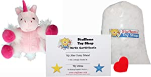 Make Your Own Stuffed Animal Mini 8 Inch Very Soft Pink Unicorn Kit - No Sewing Required!