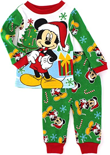 Disney Store Mickey Mouse Holiday PJ Pals Set Baby Christmas Pajamas