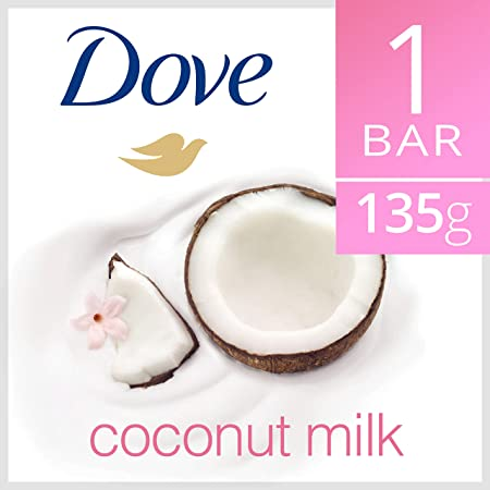 Dove Soap 48X135g 4.75oz 48X135G 4.7OZ, Coconut milk
